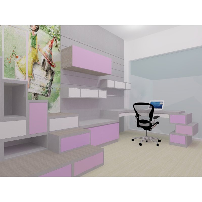 Interior Desain Kamar Tidur Anak Children Bedroom Kamar Tidur Minimalis Shopee Indonesia