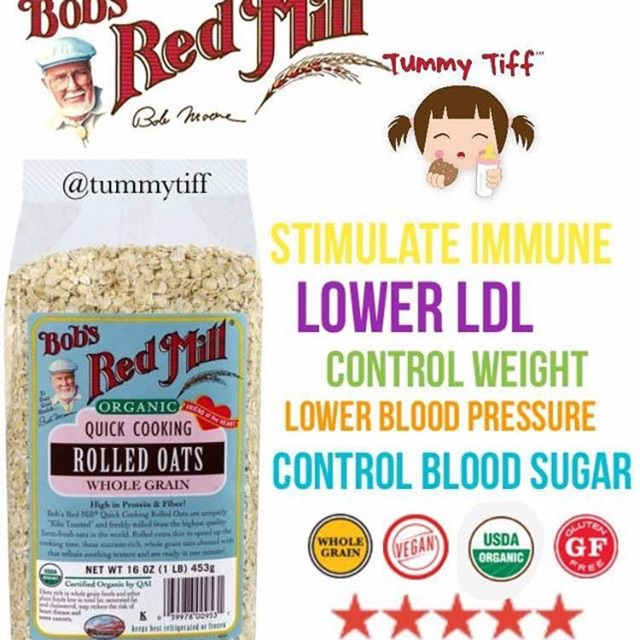 Bob's red mill organic quick cooking rolled oat 907gram | Shopee Indonesia