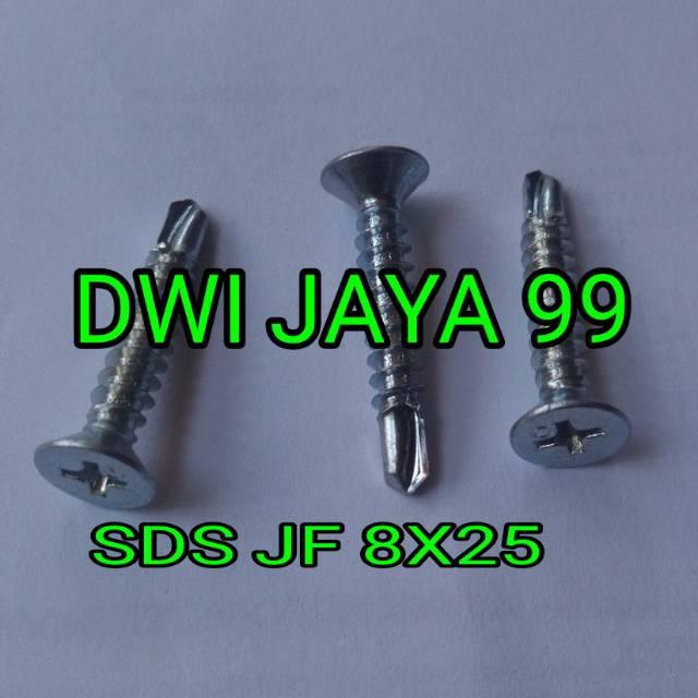 Sds jf fh 8x25 mm skrup drilling harga untuk 100 pcs