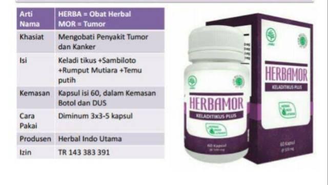 Herbamor Kapsul Keladi Tikus Plus Herbal Untuk Tumor Promo Hemat Shopee Indonesia