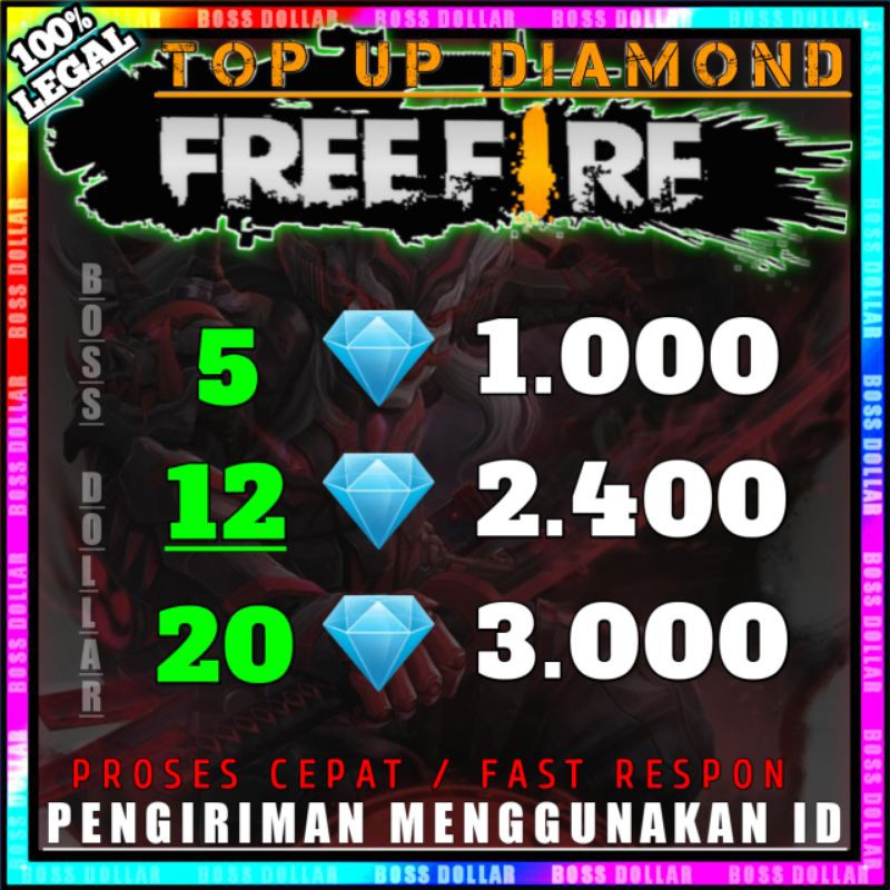 TOP UP DIAMOND FREE FIRE DM FF