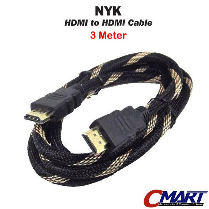HDMI Male To Male Cable Kabel HDMI 1.5 Meter Jaring Hitam Merah | Shopee Indonesia