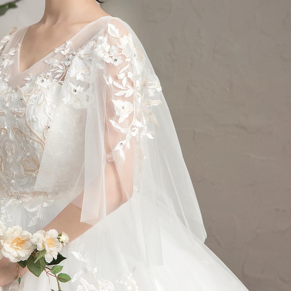 Lemak MM gaun pengantin ukuran besar tipis perempuan 12 pound pengantin  wanita perut besar hamil di
