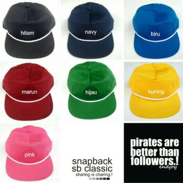 Topi snapback polos pria cowo wanita cewe merah hitam pink biru kuning hijau  navy  53065dfc27