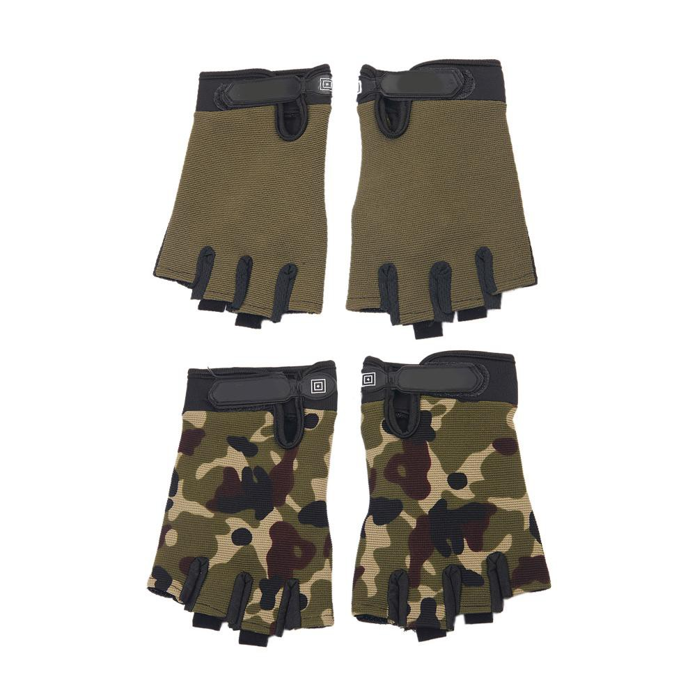 Camouflage Men Women Half Finger Breathable Antiskid Cycling Gym Sports Gloves