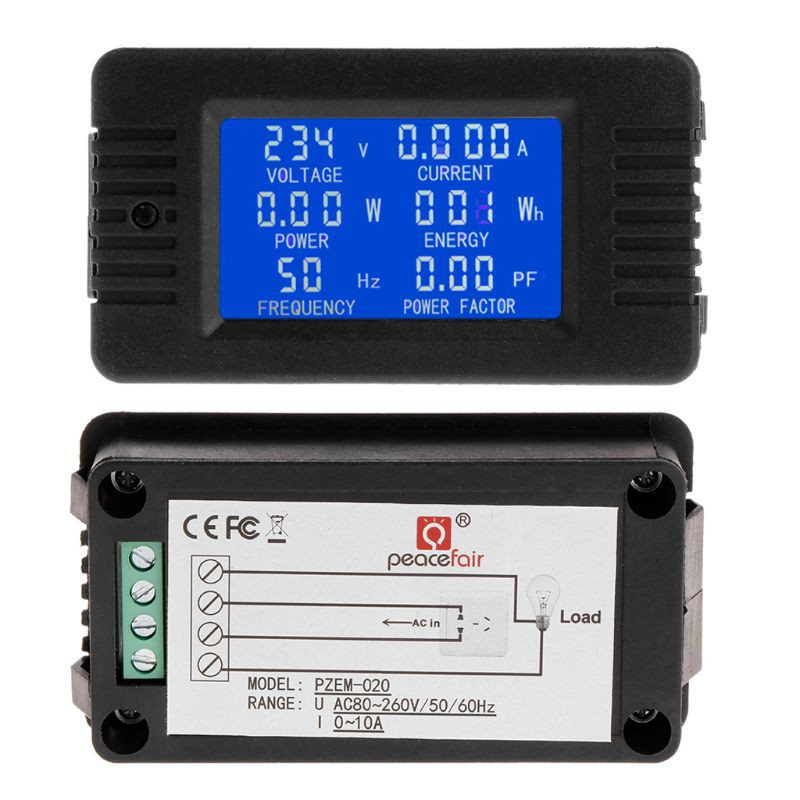 6in1 Digital Ac 80 260v Power Energy Monitor Voltage Current Kwh Watt Meter 100a Shopee Indonesia