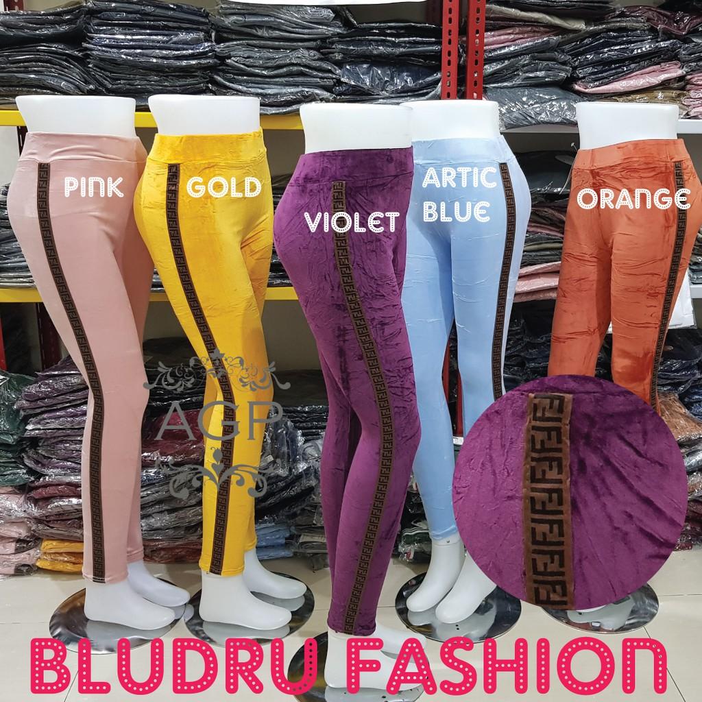 Legging Bludru Velvet Fashion Legging Bludru Fashion Wanita Jumbo Agape Bludru Ff Shopee Indonesia