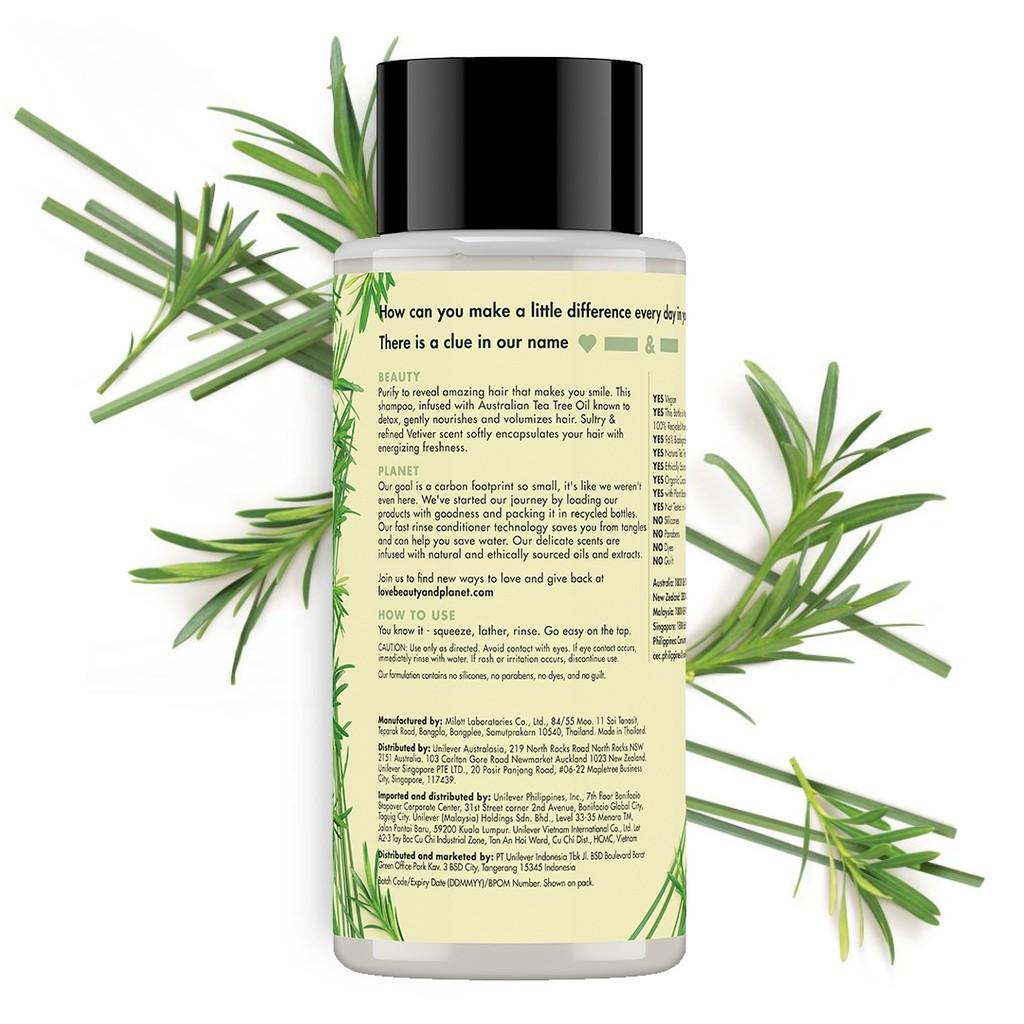 Love Beauty & Planet Radical Refresher, Tea Tree Oil & Vetiver Shampoo 400Ml-2