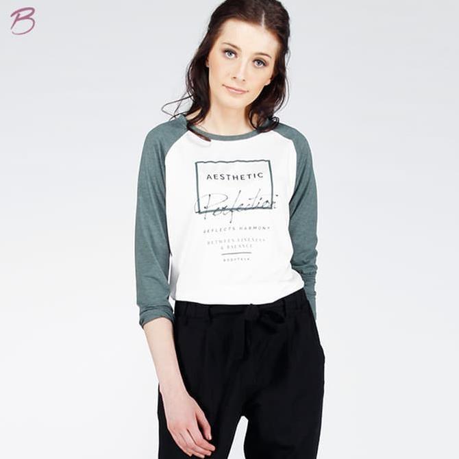 Atasan Wanita Kaos Wanita Kaos Lengan Panjang Aesthetic Tee