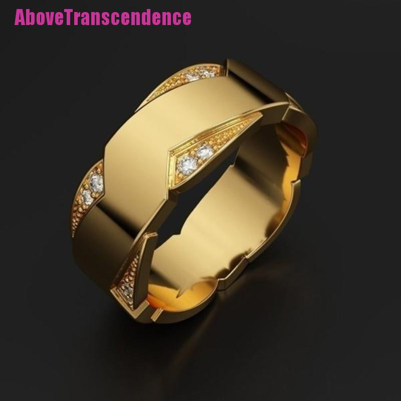 Above Jewelry Men S Diamond Ring Engagement Wedding Ring Gift Birthday Luxur Shopee Indonesia