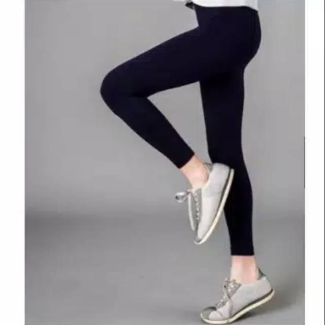 Basic Celana Legging Warna Hitam Fit To Xl Shopee Indonesia