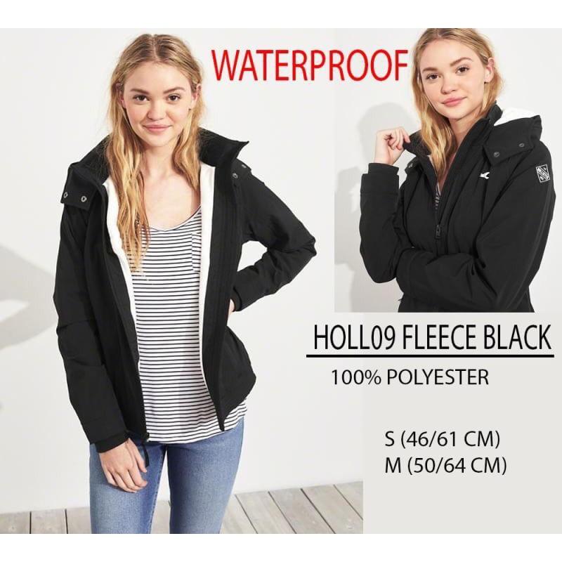 Jaket Branded Wanita - HOLLISTER 09 FLEECE BLACK  cea0510d28