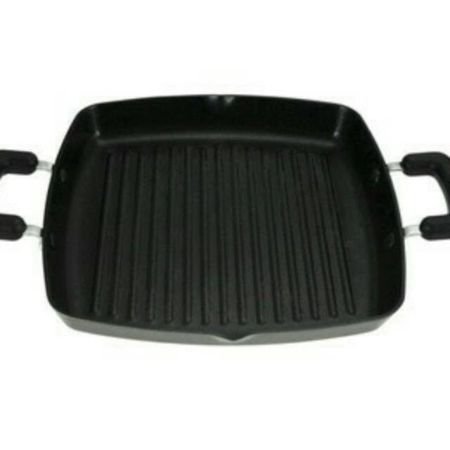 Maxim Square Grill Non Stick With Lips - 28 cm / grill pan bbq kotak promo grill kotak | Shopee Indonesia