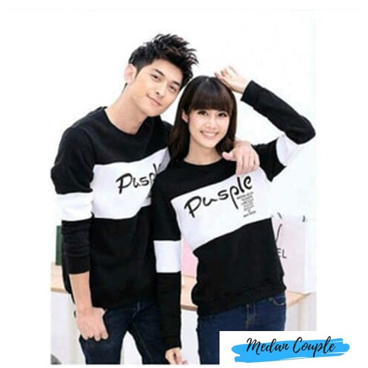 Sweater Couple / Sweater Pasangan / Baju Couple / Baju Pasangan Pusple | Shopee Indonesia