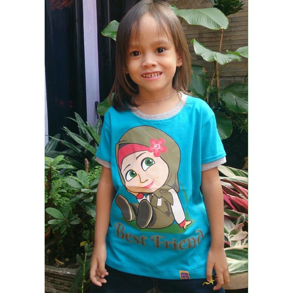 Tshirt Pakaian Baju Kaos Anak Lucu Kartun Gambar Masha And The Bear Shopee Indonesia
