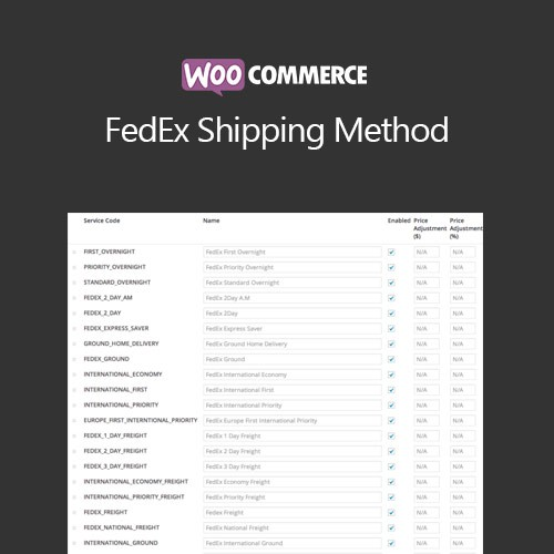 Woocommerce Fedex Shipping Method Shopee Indonesia