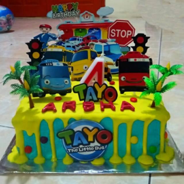Kue Ulang Tahun Kue Tart Tayo Bentuk Segi Empat Shopee Indonesia