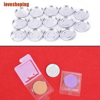 Loveshop 10pcs Set Case Bulat Kosong Bahan Aluminum Ukuran 36.5mm Untuk Eyeshadow Bedak thumbnail