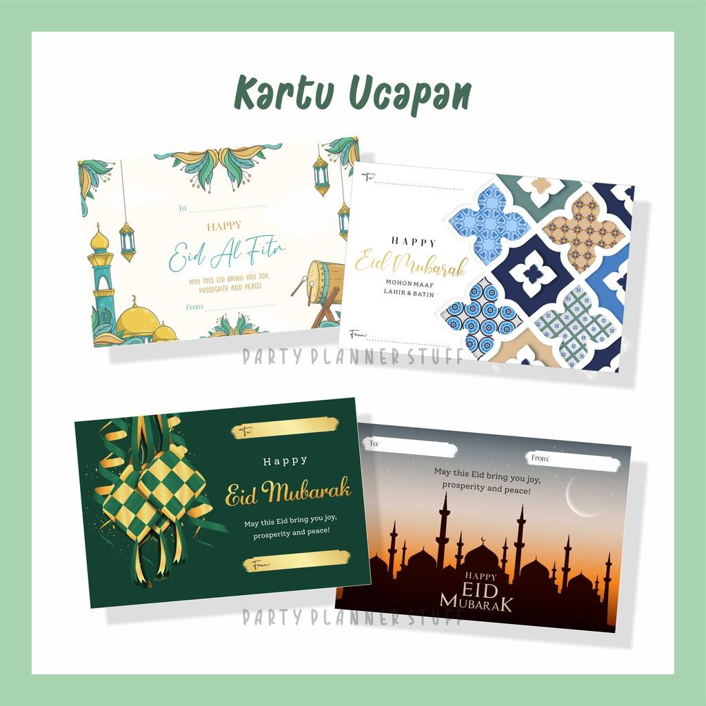 Kartu Ucapan Ramadan Idul Fitri Lebaran Kartu Ucapan Hampers Eid Mubarak Eid Al Fitr Cantik Shopee Indonesia