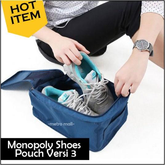 Tas Sepatu Besar Olahraga Wisata Traveling- Monopoly Shoes Pouch Ver 3 | Shopee Indonesia