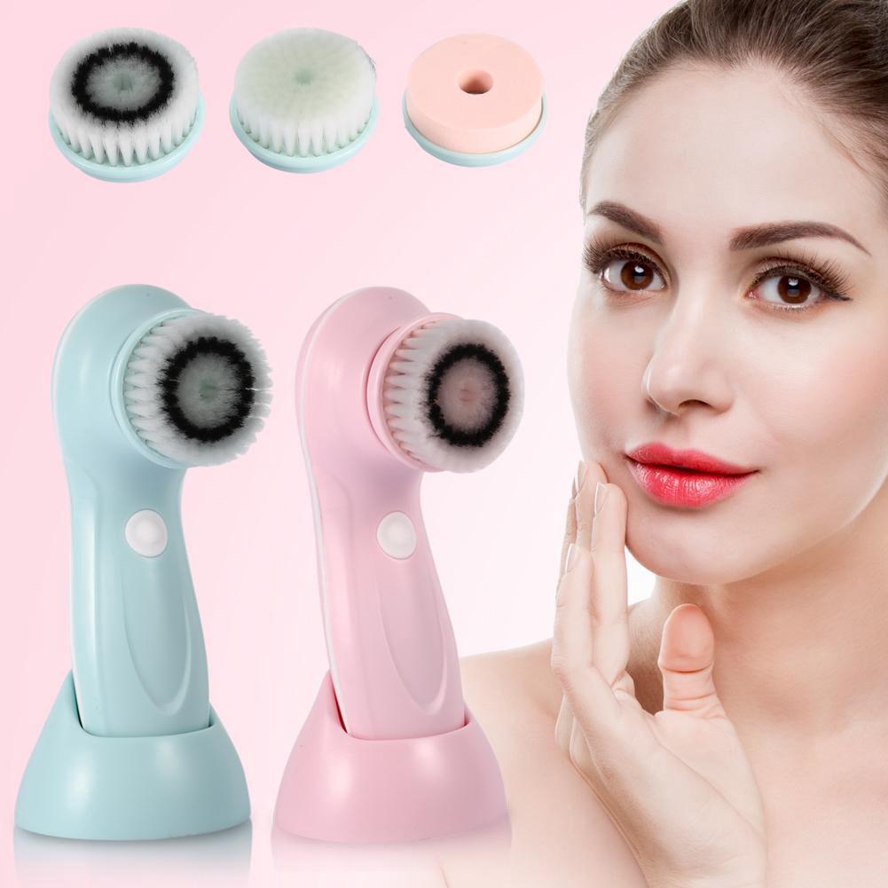 Multifunction Electric Face Facial Cleansing Brush Permbersih Muka Elektrik   Shopee Indonesia