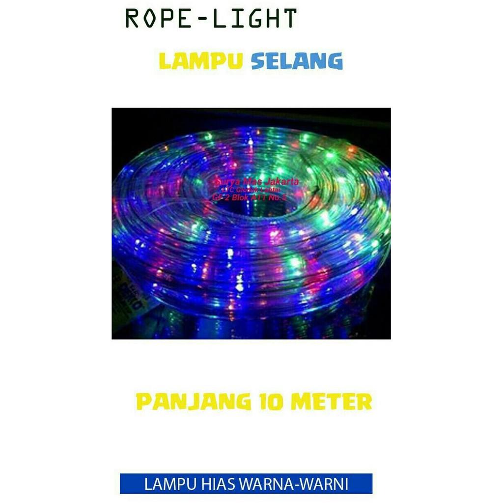 Lampu Selang Warna Warni / LED Strip Simpan Plafon RGB 5050 + RF Remote Control |