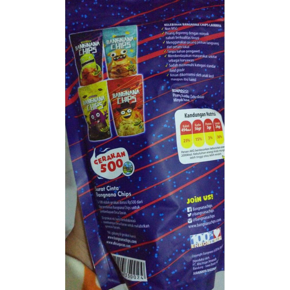 Bangnana Chips Keripik Pisang Sehat Untuk Anak Dan Bumil Shopee Indonesia
