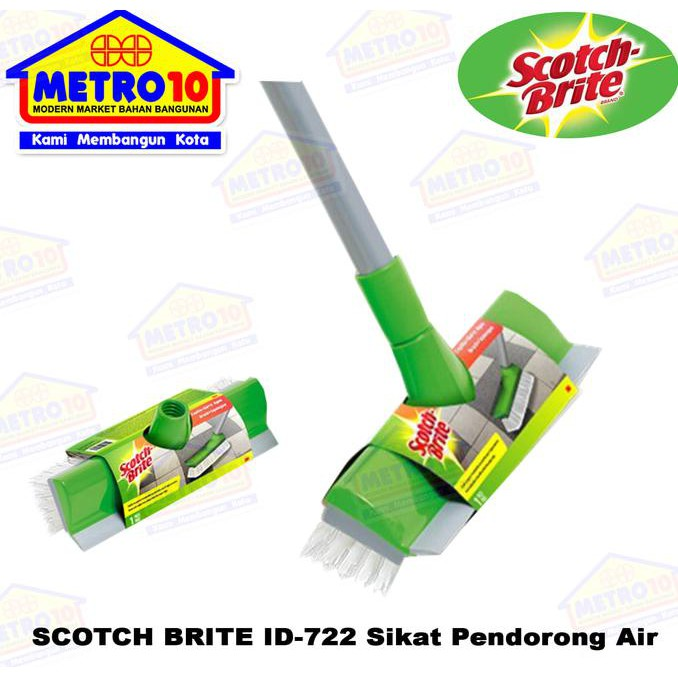 3M Scotch Brite ID 772 Sikat Lantai Pendorong Air khusus gojek Surabaya | Shopee Indonesia