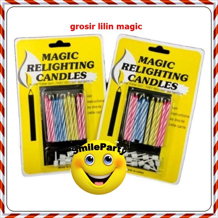 Lilin magic / lilin ulang tahun ( min order 48 u/ grosir ) termurah | Shopee Indonesia