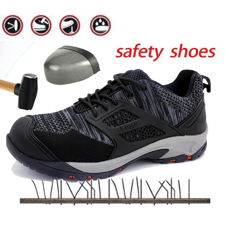 Mens Steel Toe Breathable Safety Shoes Work Boots Trainers Sports Hiking Shoes