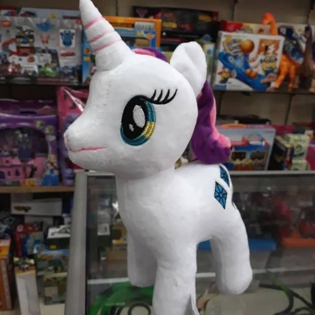 Boneka Kuda Little Pony Rarity Warna Putih Unicorn Shopee Indonesia