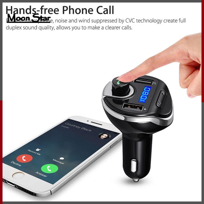 X XS Max 5 Just Wireless Bluetooth FM Transmitter for Car Dual Port USB Car Charger Wireless Bluetooth Radio Stereo Adapter Car Kit Hands-Free Calling for iPhone XS XR 7 8 Samsung Galaxy Best Case and Accessories 20081 6 SE