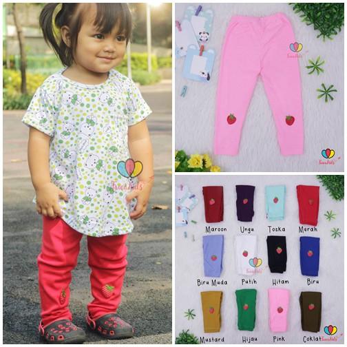 Legging Strawberry Uk Bayi 3 Th Celana Panjang Leging