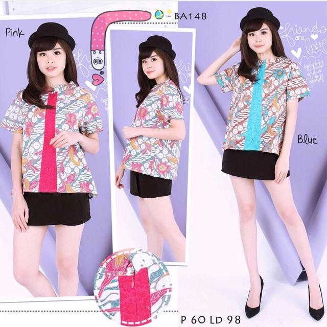 Blouse Batik Wanita Japan Style
