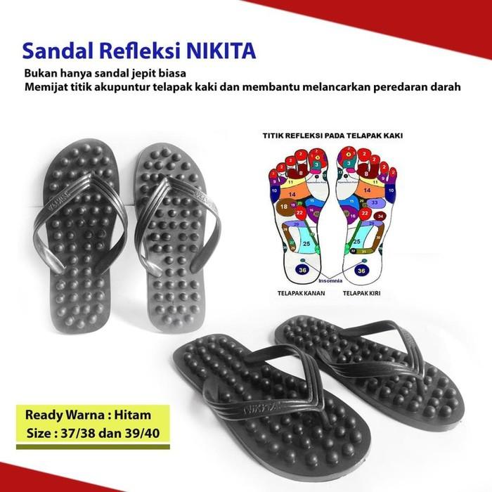 Sandal Jepit Nikita Refleksi Terapi Pijat Kesehatan Akupuntur Kaki   Shopee Indonesia