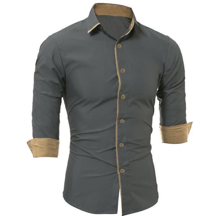 MURAH BANGET miller black xl pakaian pria kemeja slim fit warna hitam ukuran xl | Shopee