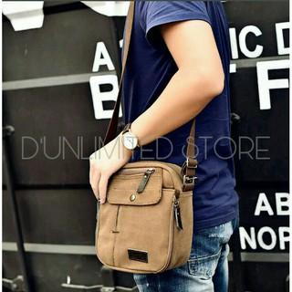 Tas slempang import kanvas militer/slempang messenger shoulder bag