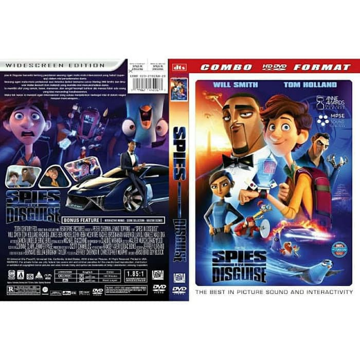 Kaset Dvd Film Animasi Spies In Disguise 2019 Shopee Indonesia
