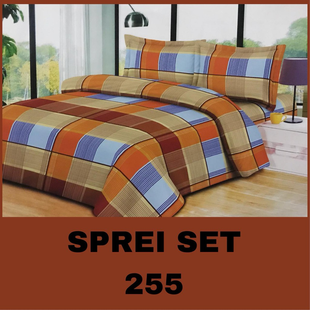 Promo Sprei Set Queen Size Murah ( Tanpa Bed Cover ) Evelyn | Shopee Indonesia