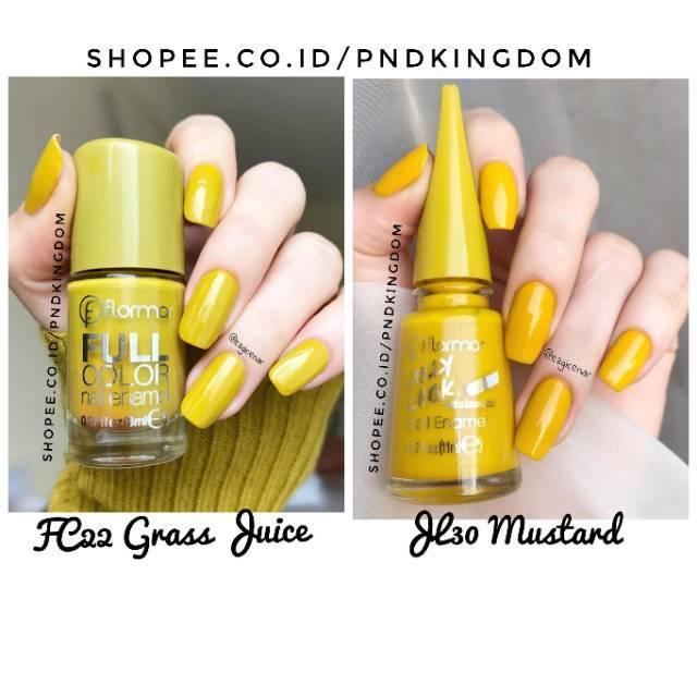Jl30 Mustard Fc22 Grass Juice Kutek Flormar Full Color Nail Enamel Cat Kuku Nail Polish Shopee Indonesia