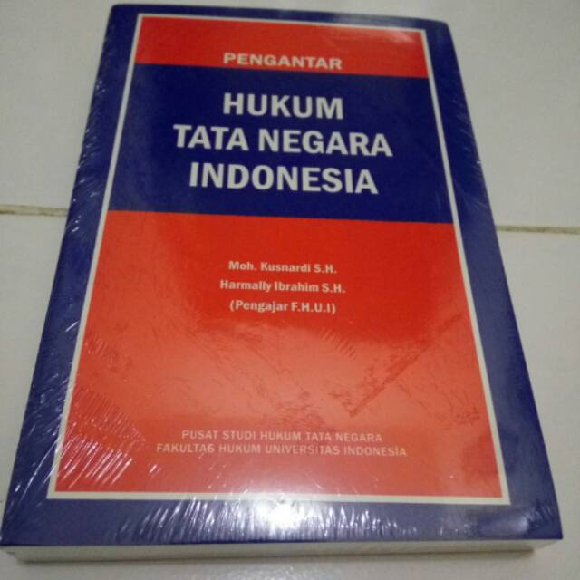 Buku Pengantar Hukum Tata Negara Indonesia/Kusnardi, Harmally Ibrahim