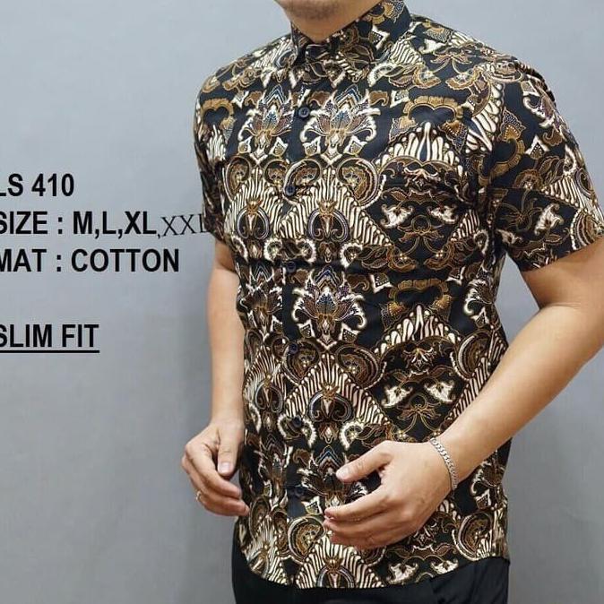 Kemeja Batik Pria Slim Fit / Baju Batik Pria Slim Fit D818 Kemeja Batik | Shopee Indonesia