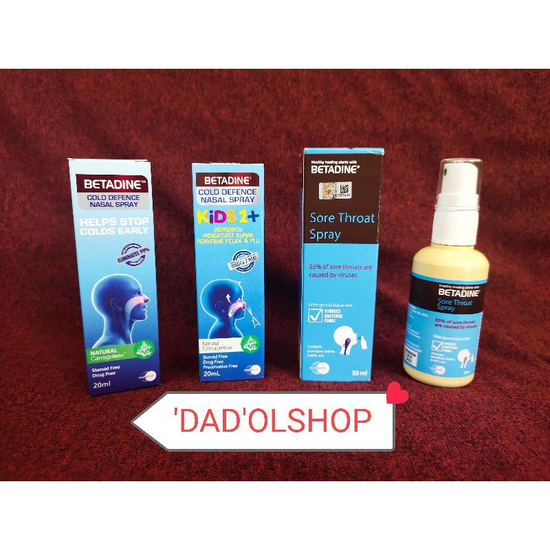 Promo Betadine Nasal Spray Kids 20 Ml Adult Sore Throat Spray 50 Ml Cegah Corona Virus Shopee Indonesia