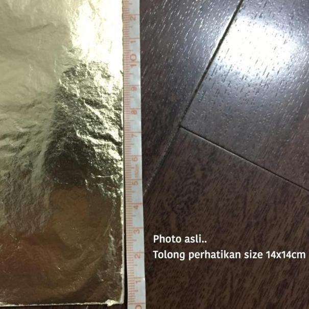 Z7b8 Promo Kertas Gilding Foil Sheet Paper Prada Sepuh Emas Gold Leaf Sheet Pack Ready Stock Shopee Indonesia