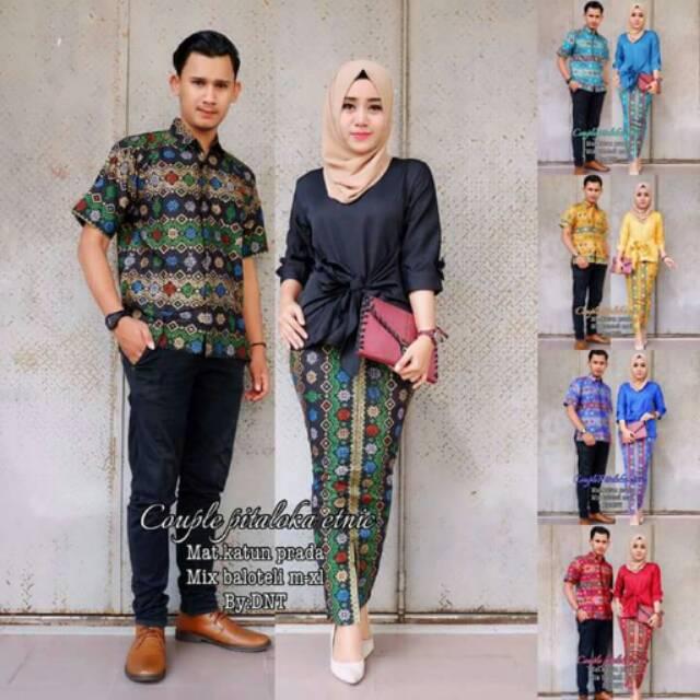 TERMURAH - Batik Couple / Couple Batik / Batik Sarimbit Aura Kasih | Shopee Indonesia