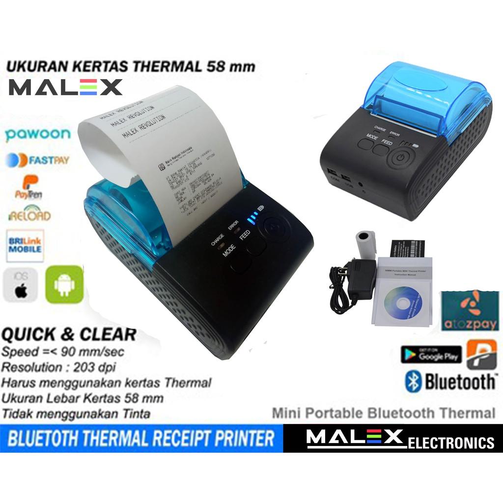 Printer Kasir Ppob Thermal 58mm Iware C58bt Prj58d Usb Bluetooth 58 Mm Untuk Android Shopee Indonesia
