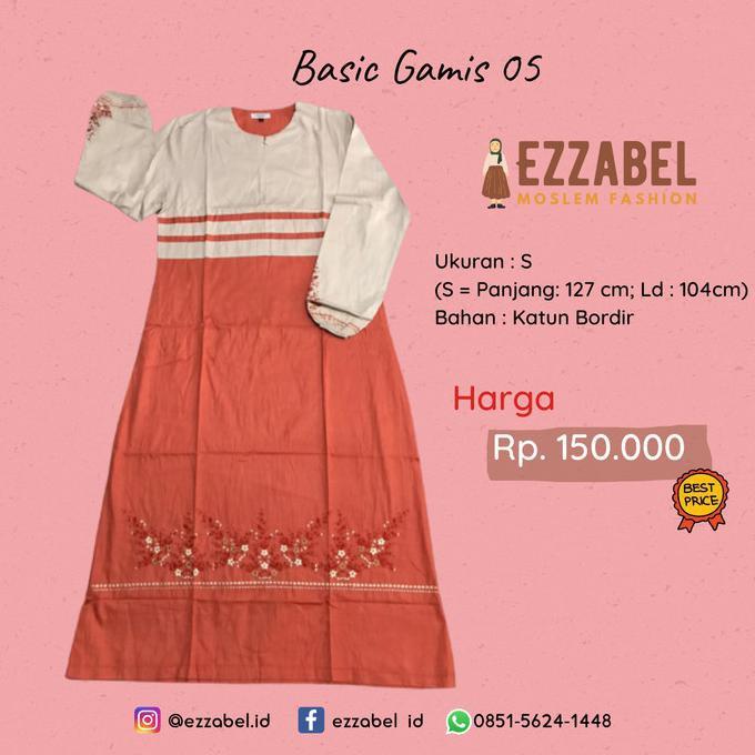 Best Seller Ezzabel - Basic Gamis 05 - Baju Harian Santri Gontor Putri - S