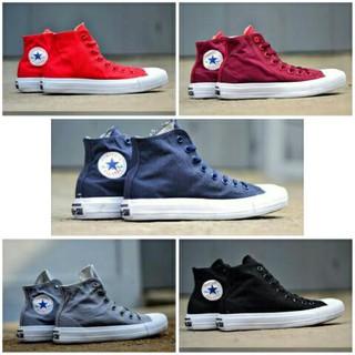 Sepatu Kets Converse Chuvk Taylor CT OP High Hitam Merah Maron Biru Navy  Abu Sekolah Kuliah Kerja  e06326de57