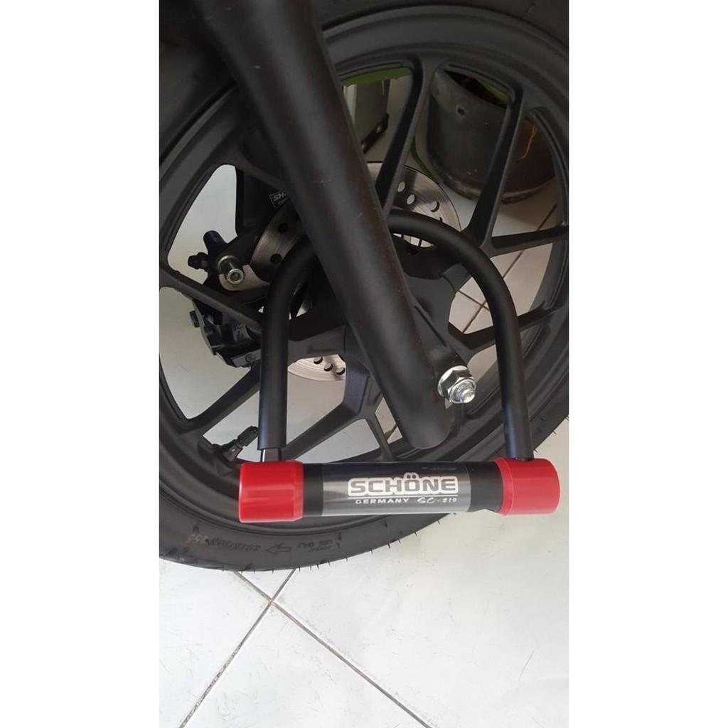 DISKON SCHONE Gembok Motor Sepeda Pintu Gerbang SC 210 Merah | Shopee Indonesia