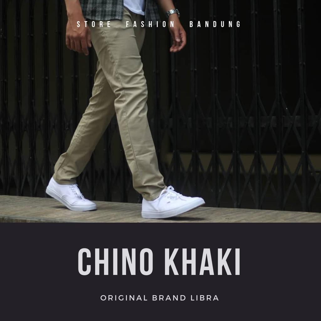 Celana Panjang Chino With Ribbon List Black Hitam Shopee Indonesia